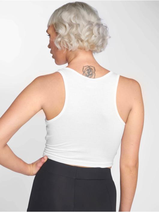Urban Classics Topy/Tielka Rib Cropped biela