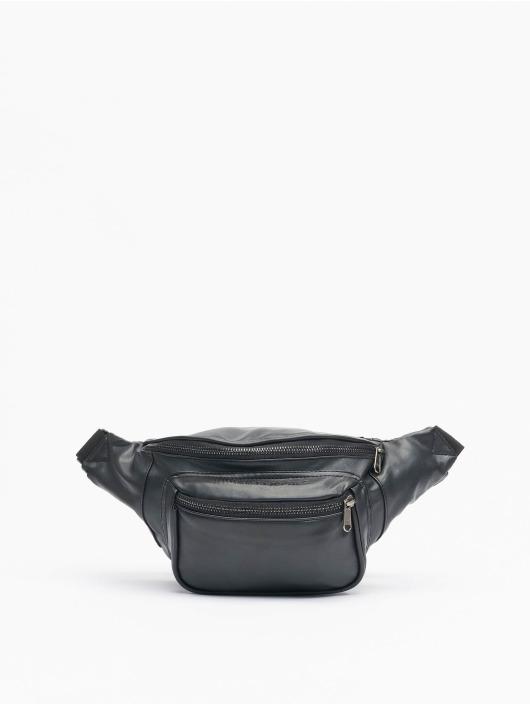 Urban Classics Torby Imitation Leather Double Zip Shoulder czarny