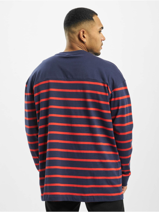 Urban Classics Trøjer Color Block Stripe Boxy blå