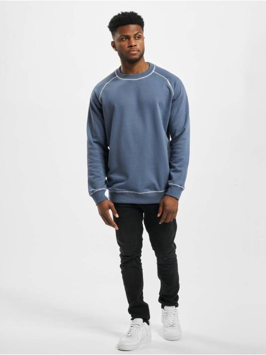 Urban Classics Trøjer Contrast Stitching Crew blå
