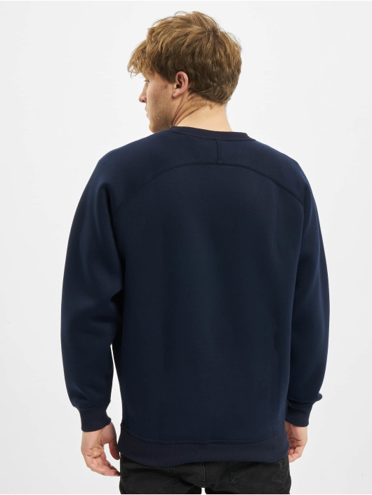 Urban Classics Trøjer Raglan Zip Pocket Crew blå
