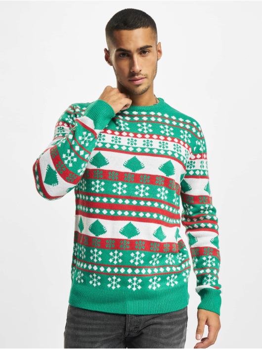 Urban Classics Trøjer Snowflake Christmas Tree grøn