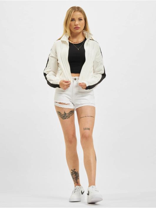Urban Classics Transitional Jackets Short Striped Crinkle hvit