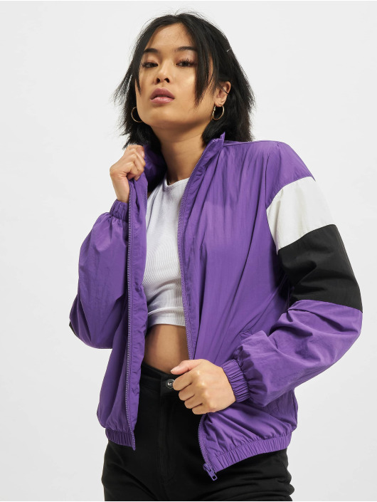 Urban Classics Transitional Jackets 3-Tone Crinkle lilla