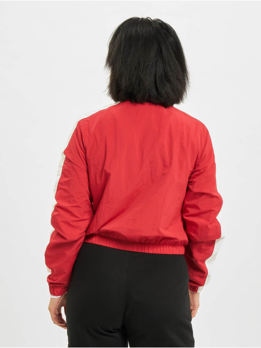 Urban Classics Transitional Jackets Short Striped Crinkle red
