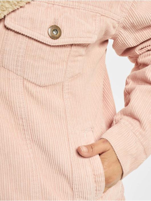 Urban Classics Transitional Jackets Oversize Sherpa Corduroy rosa