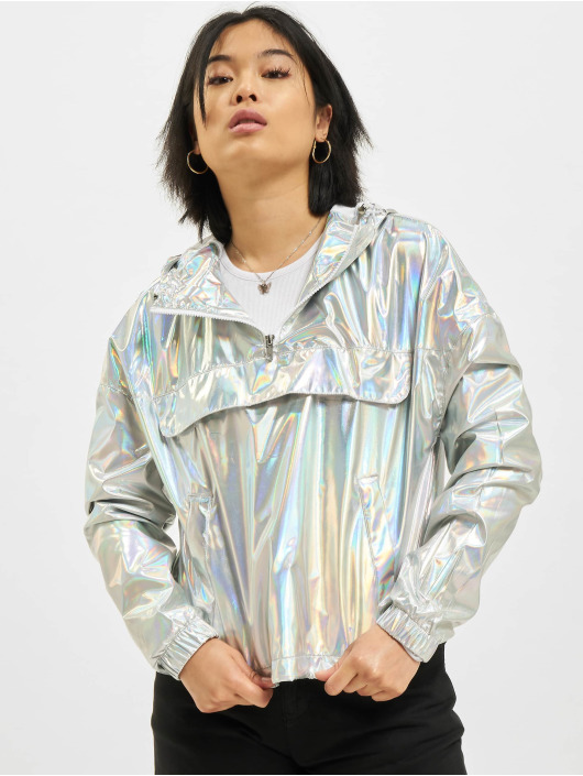 Urban Classics Transitional Jackets Holographic Pull Over sølv