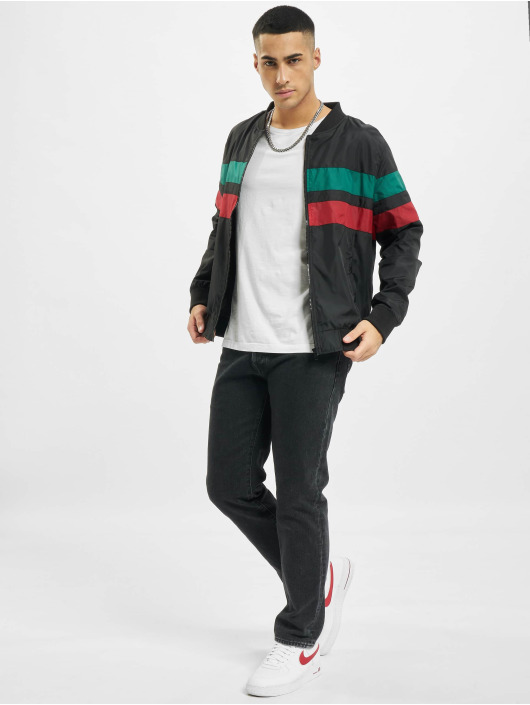Urban Classics Transitional Jackets Striped svart
