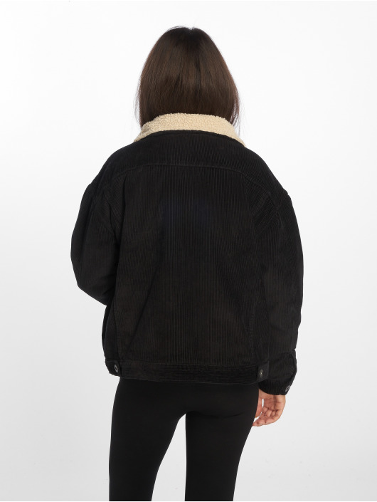 Urban Classics Transitional Jackets Oversize Sherpa Corduroy svart
