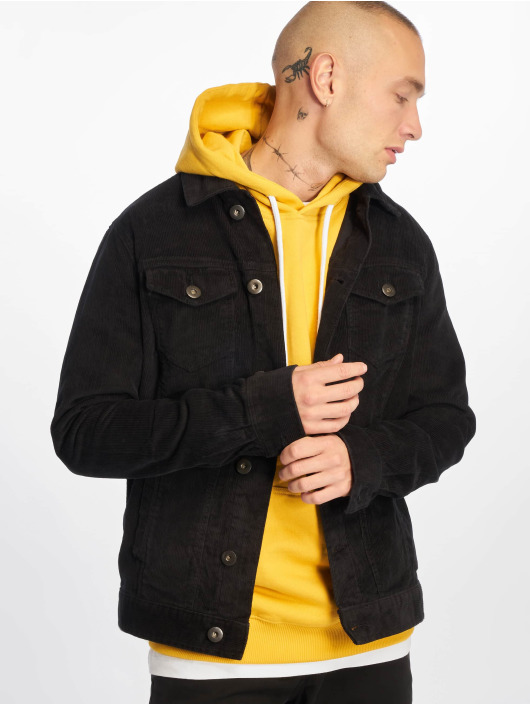 Urban Classics Transitional Jackets Corduroy svart