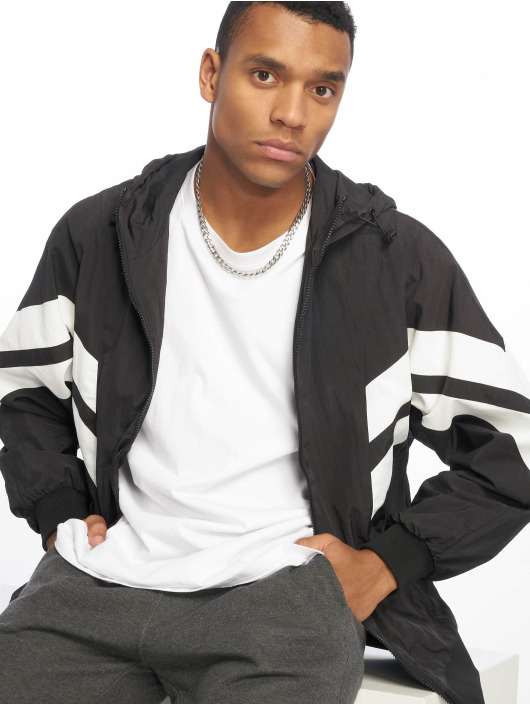 Urban Classics Transitional Jackets Crinkle Panel svart