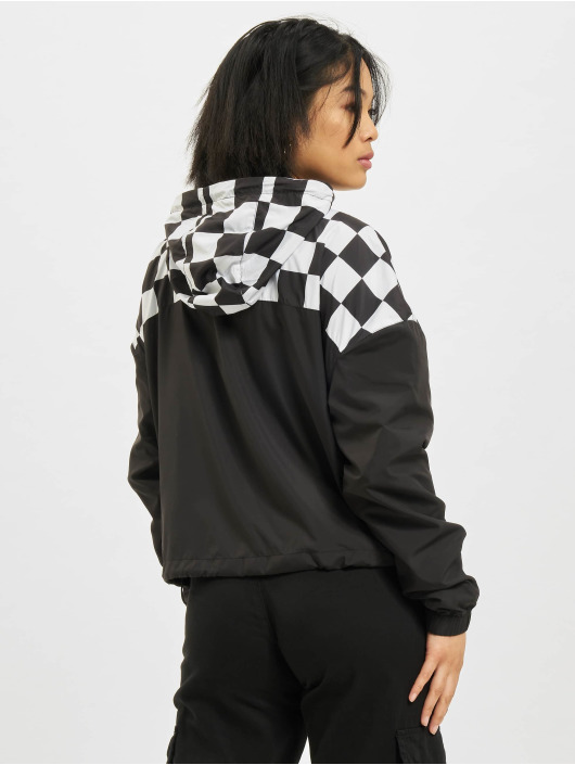 Urban Classics Transitional Jackets Short Oversize Check Pull Over svart