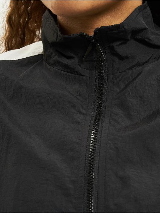 Urban Classics Transitional Jackets Short Striped Crinkle svart