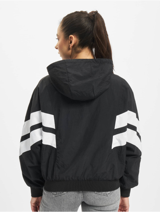 Urban Classics Transitional Jackets Crinkle Batwing svart