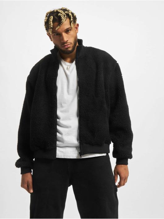 Urban Classics Transitional Jackets Boxy Sherpa svart