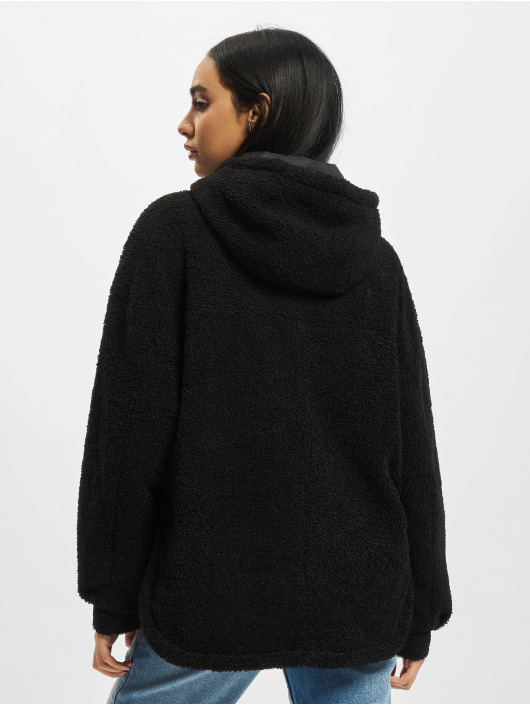 Urban Classics Transitional Jackets Ladies Short Sherpa svart
