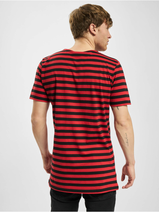 Urban Classics Tričká Stripe Tee èervená