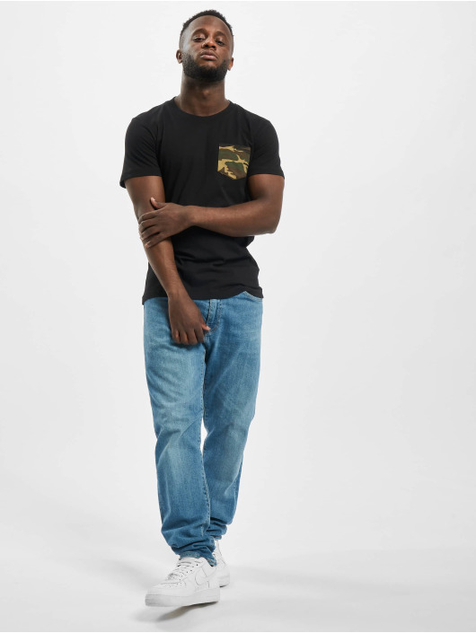 Urban Classics Tričká Camo Pocket èierna