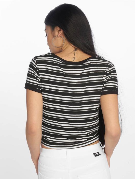Urban Classics Tričká Rib Stripe Cropped èierna