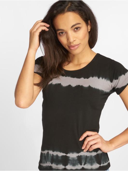 Urban Classics Tričká Striped Tie Dye èierna
