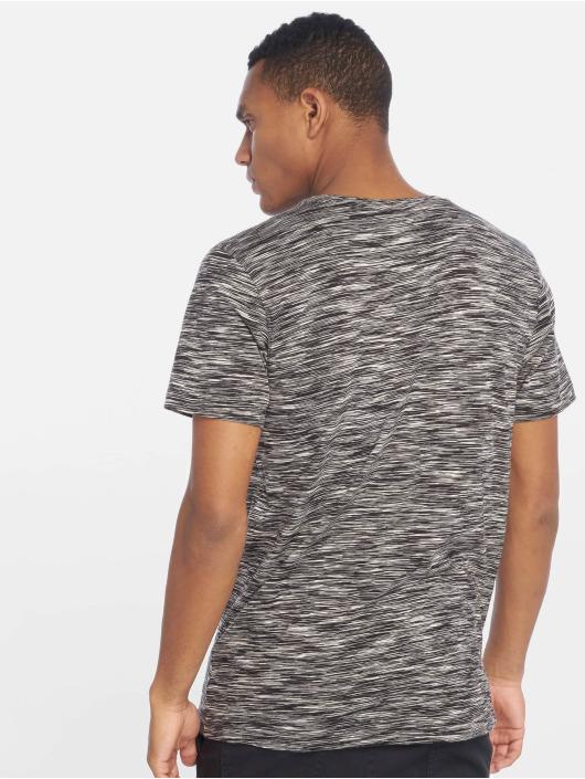 Urban Classics Tričká Striped Melange èierna