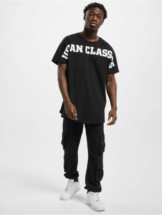 Urban Classics Tričká Long Shaped Big Logo Tee èierna