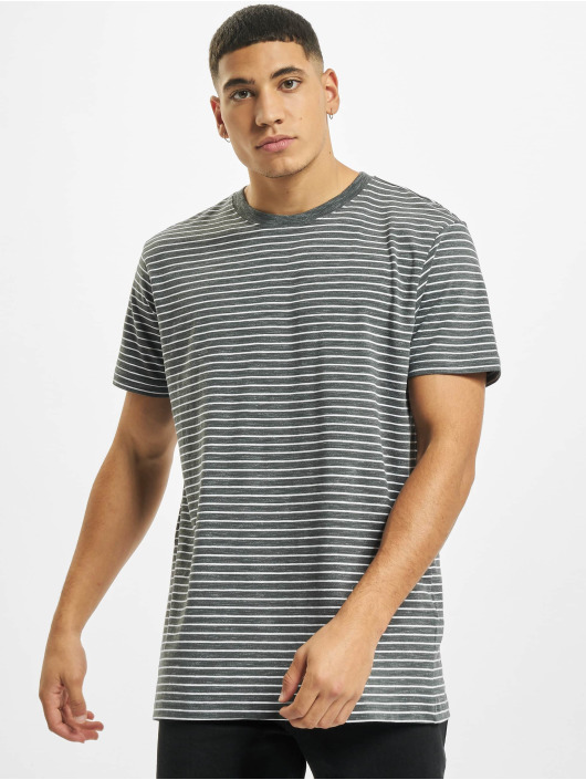 Urban Classics Tričká Basic Stripe šedá