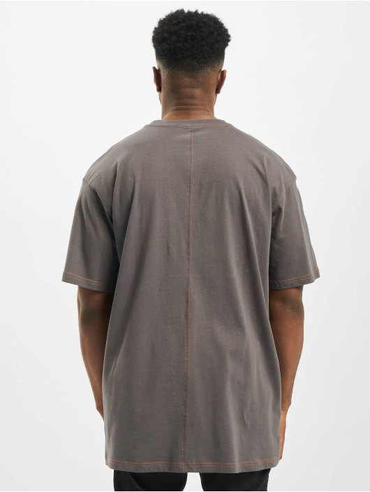 Urban Classics Tričká Heavy Oversized Contrast Stitch šedá