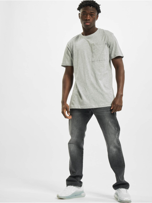 Urban Classics Tričká Basic Pocket šedá