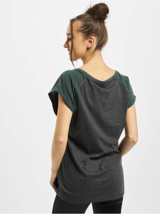 Urban Classics Tričká Ladies Contrast Raglan šedá