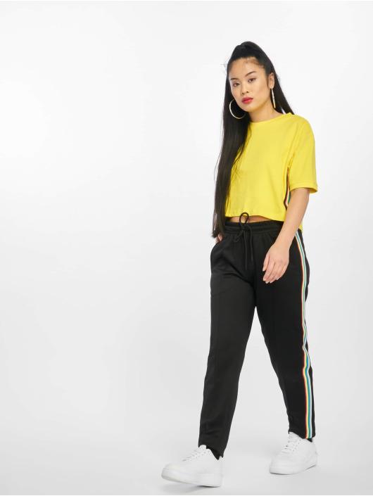 Urban Classics Tričká Multicolor Side Taped žltá