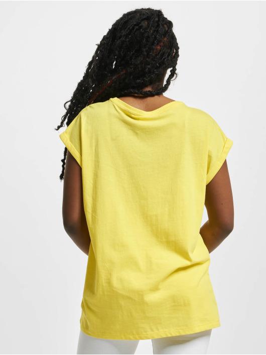 Urban Classics Tričká Extended Shoulder žltá
