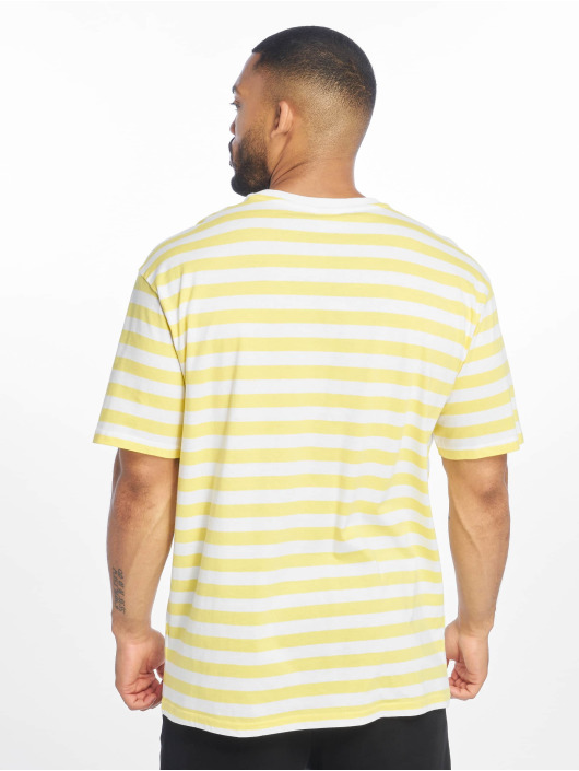 Urban Classics Tričká Oversized Yarn Dyed Bold Stripe žltá