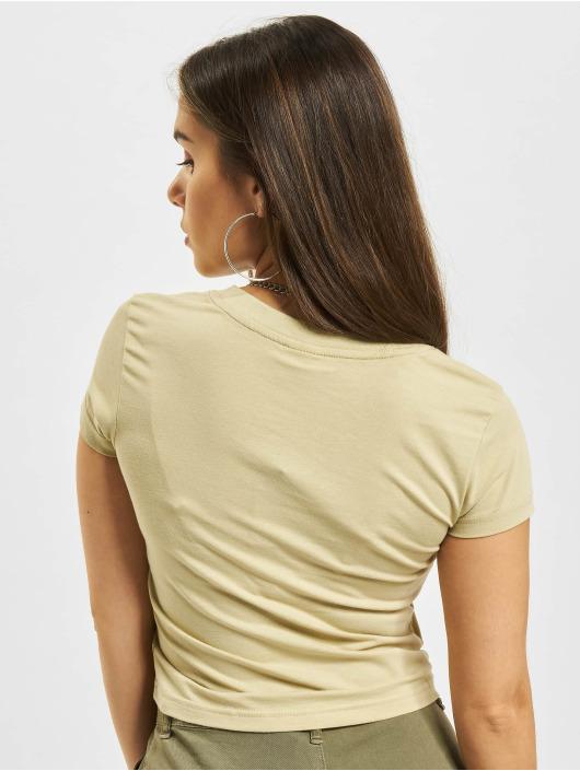 Urban Classics Tričká Stretch Jersey Cropped béžová