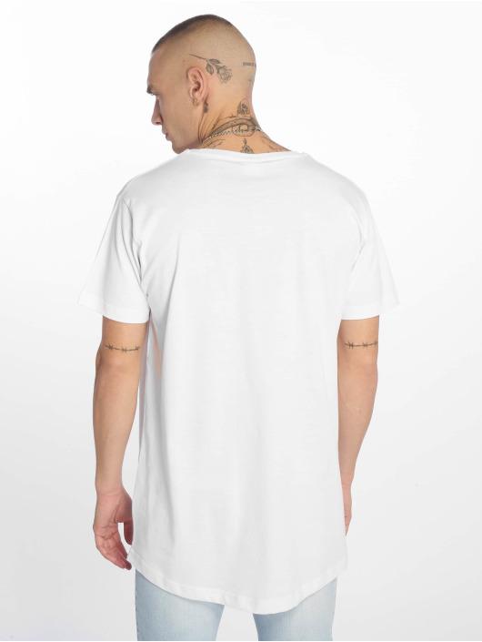 Urban Classics Tričká Shaped Long biela