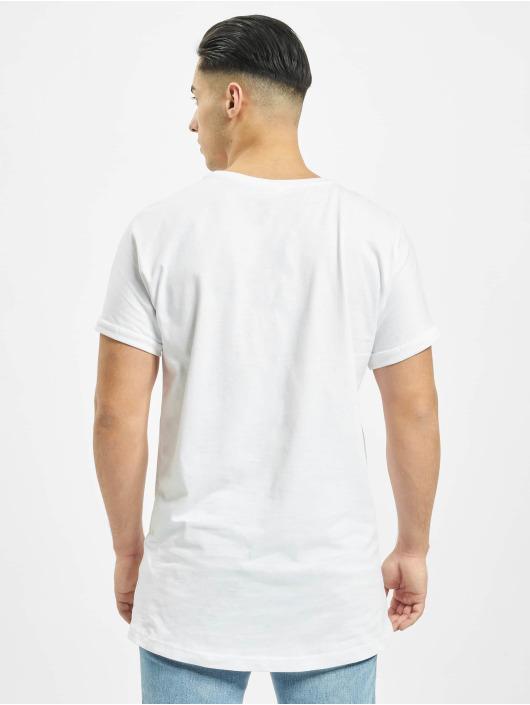 Urban Classics Tričká Long Shaped Turnup biela