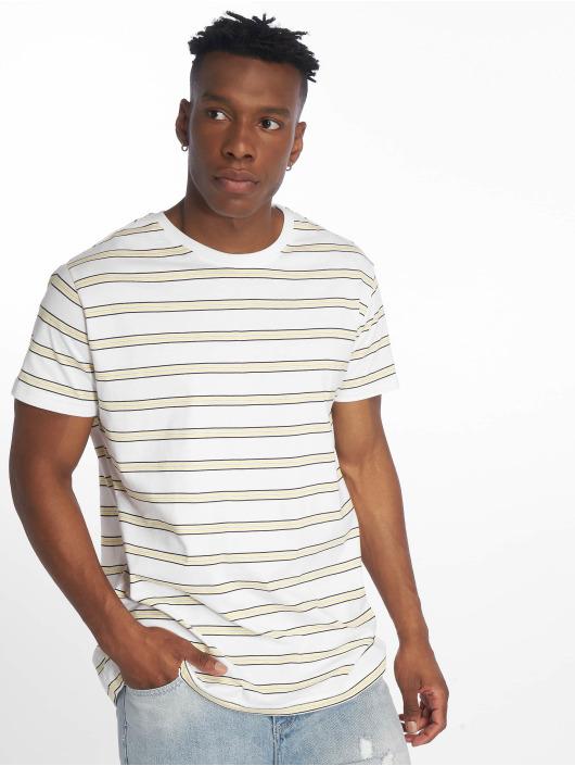 Urban Classics Tričká Multicolor Stripe biela