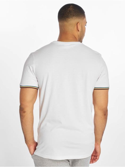 Urban Classics Tričká Rib Ringer biela