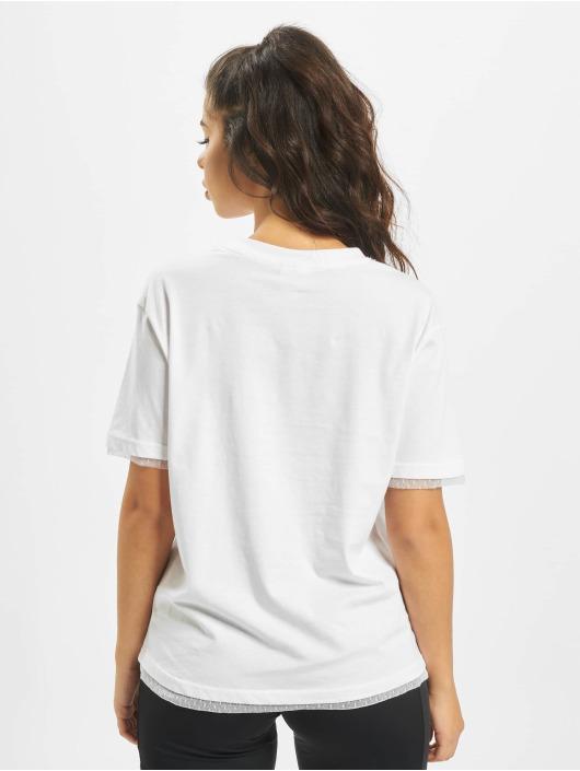 Urban Classics Tričká Boxy Lace biela
