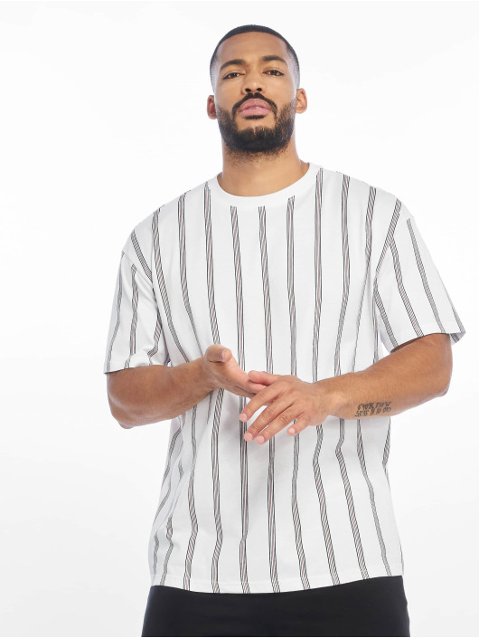 Urban Classics Tričká Heavy Oversized Stripe biela