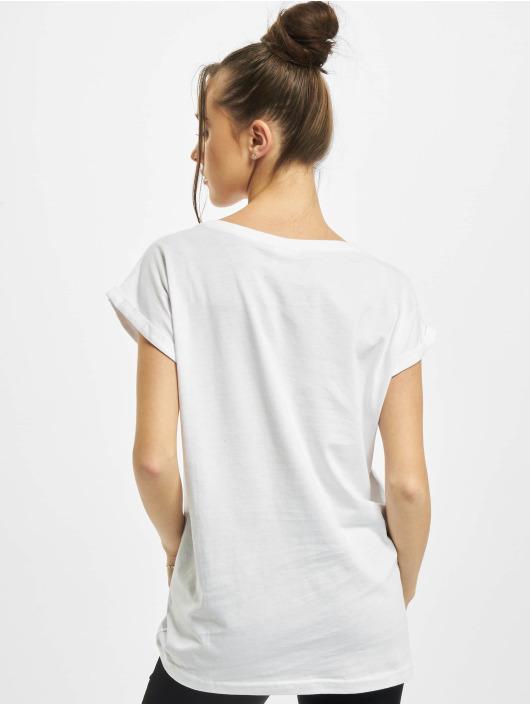 Urban Classics Tričká Ladies Organic Extended Shoulder Tee biela