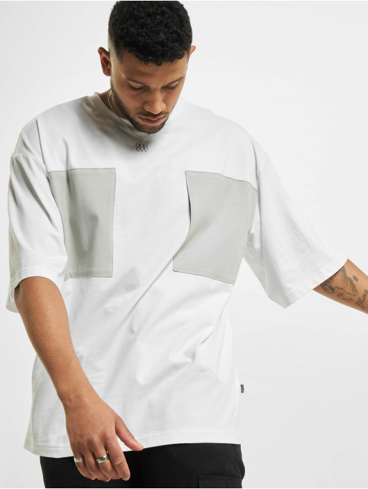 Urban Classics Tričká Big Double Pocket biela