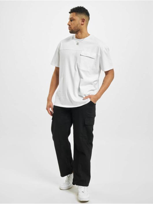 Urban Classics Tričká Oversized Big Flap Pocket biela