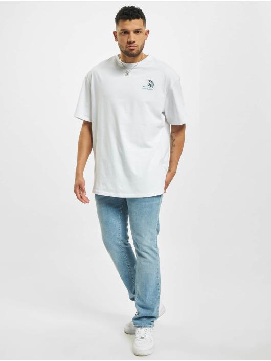 Urban Classics Tričká Big Wave biela