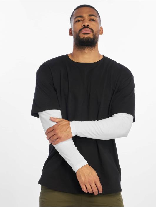 Urban Classics Tričká dlhý rukáv Oversized Shaped Double Layer èierna
