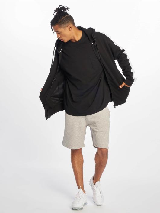 Urban Classics Tričká dlhý rukáv Oversized Cut On Sleeve Pocket èierna