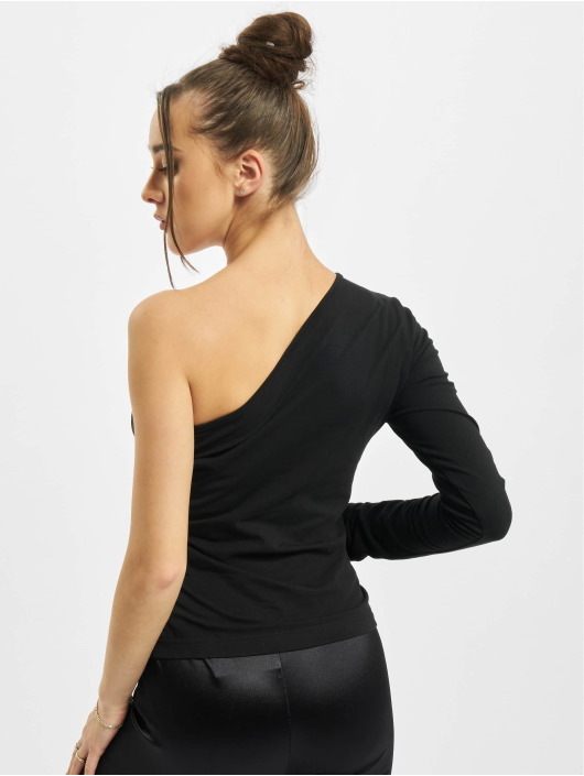 Urban Classics Tričká dlhý rukáv Ladies Asymmetric èierna