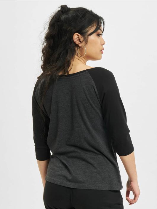 Urban Classics Tričká dlhý rukáv Ladies 3/4 Contrast šedá