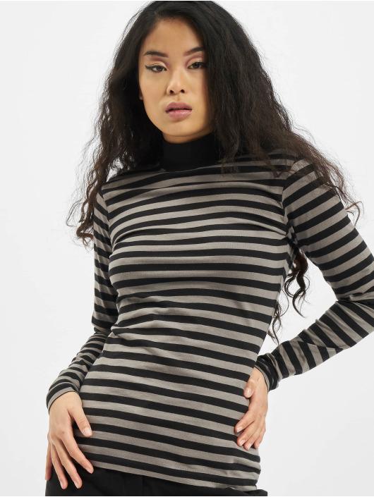 Urban Classics Tričká dlhý rukáv Ladies Y/D Turtleneck LS šedá