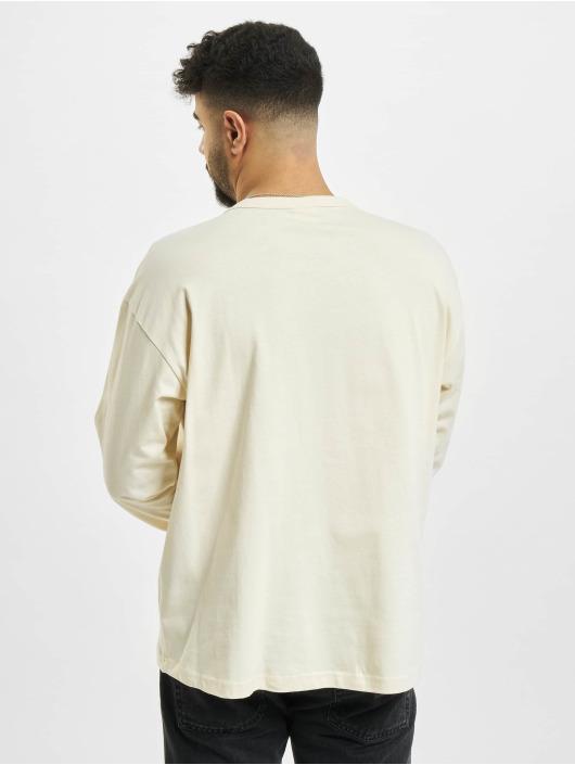 Urban Classics Tričká dlhý rukáv Organic Cotton Short Curved béžová